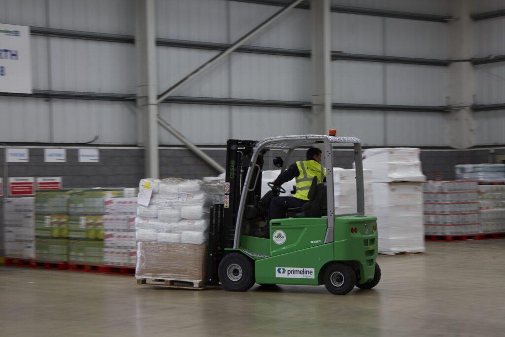 Primeline Express Case Study, Forklift Truck