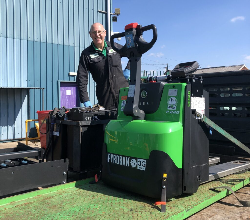 Cesab Powered Pallet Truck Delivery Wigan