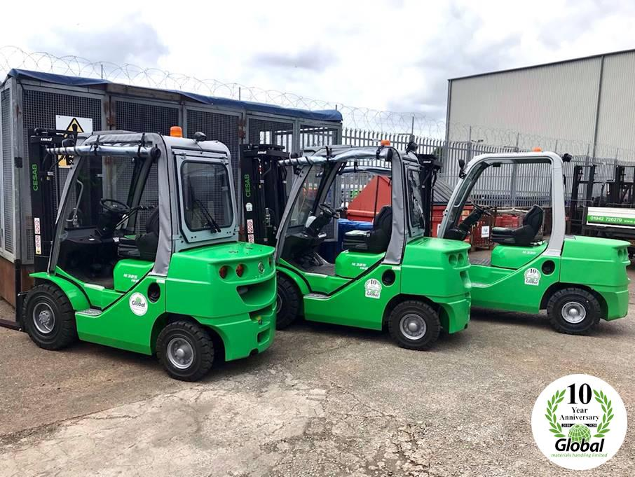 2 NEW CESAB Counterbalance Forklifts and 1 Refurbished CESAB Forklift